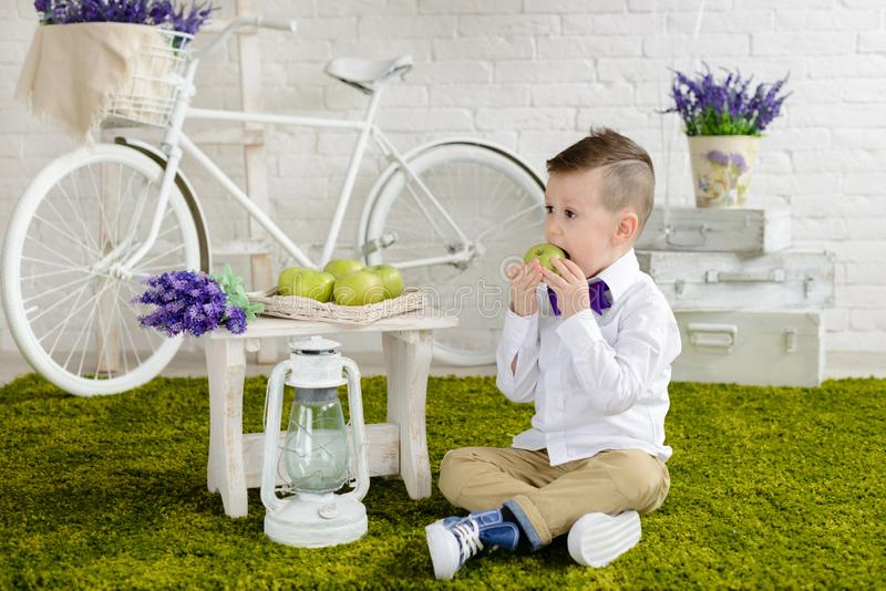 Little boy in elegant clothes. It can be used as a background. Little boy in elegant clothes. Provence style. It can be used as a background royalty free stock images