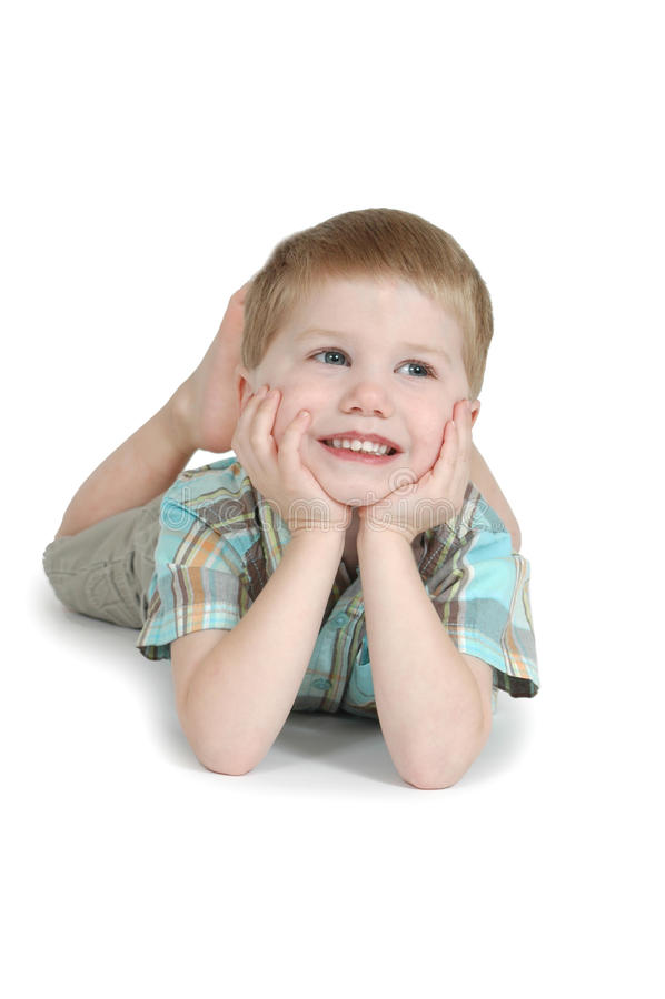 Little Boy feliz imagem de stock royalty free