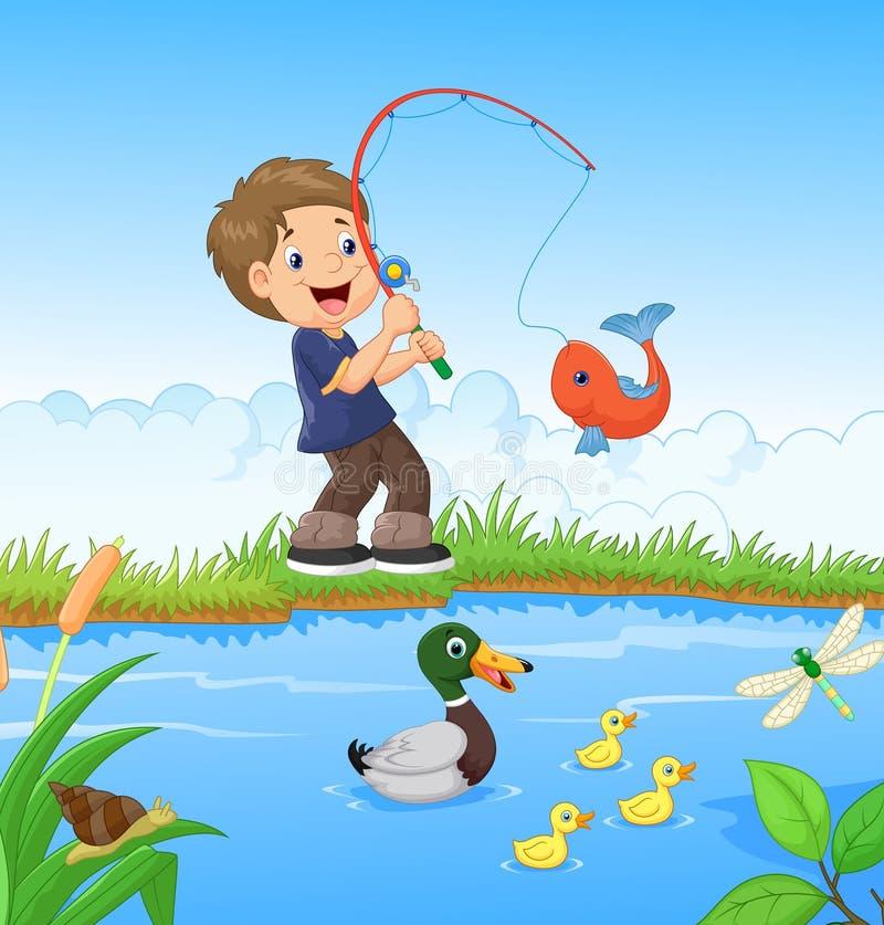 Free Little Boy Fishing Stock Photos - 45856523