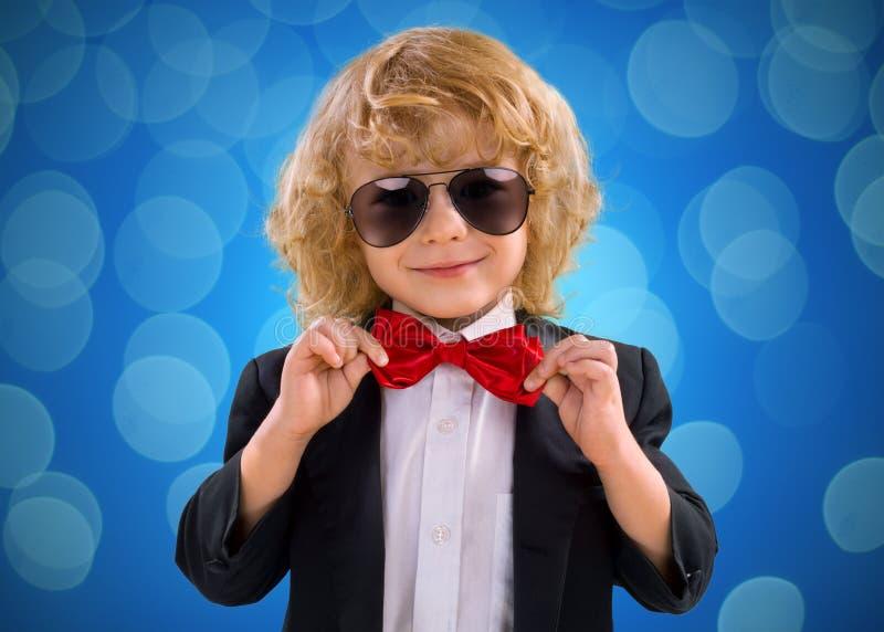 Little Boy Gentleman In Suit stock photo