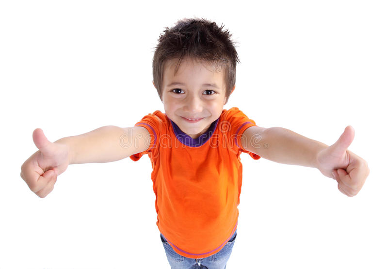Download Little Boy Gesturing Thumbs Up Sign Stock Image - Image: 22429171
