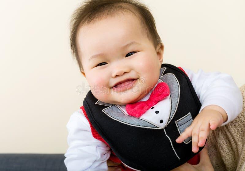 Little boy giggle stock photos