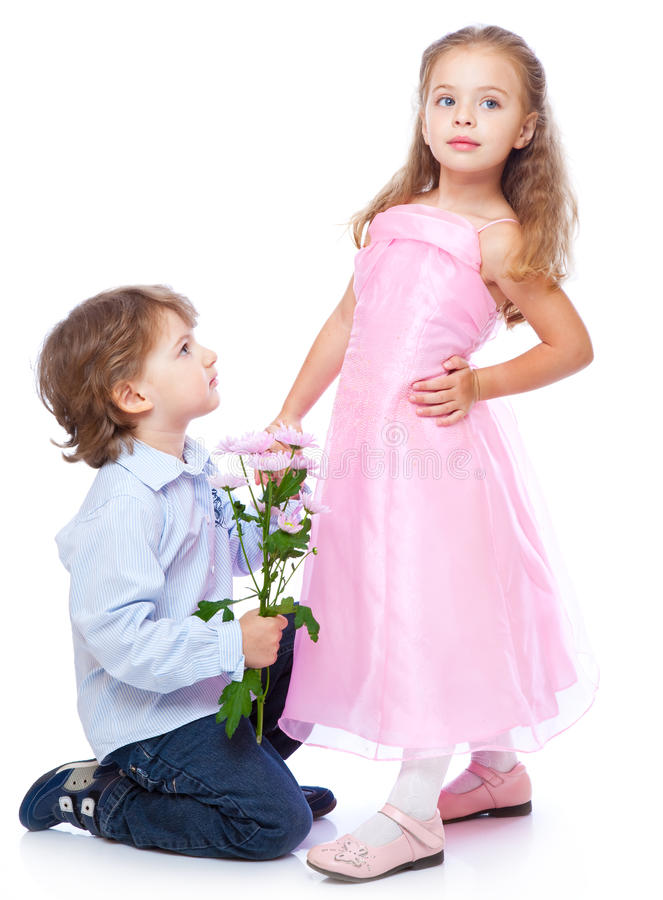 Download Little Boy And Girl In Love Stock Image - Image: 14924713