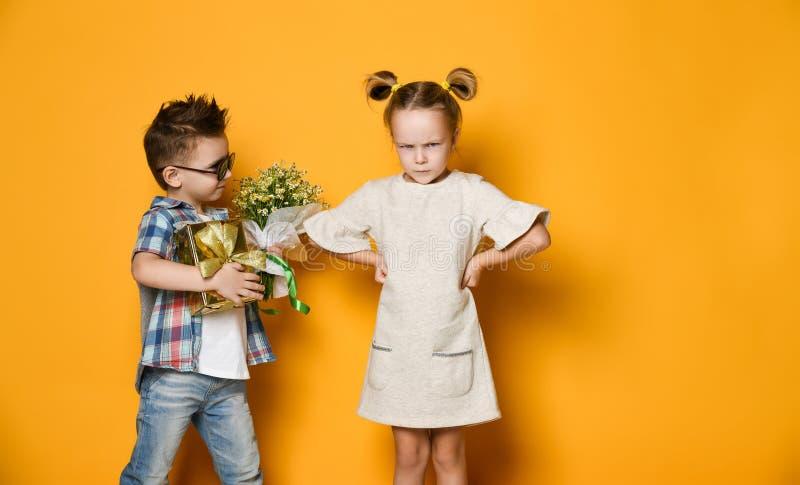 Concept of friendship, quarrel, date stock images