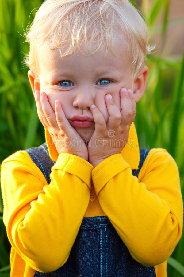 Download Little Boy Is Happy Stock Image - Image: 10842051