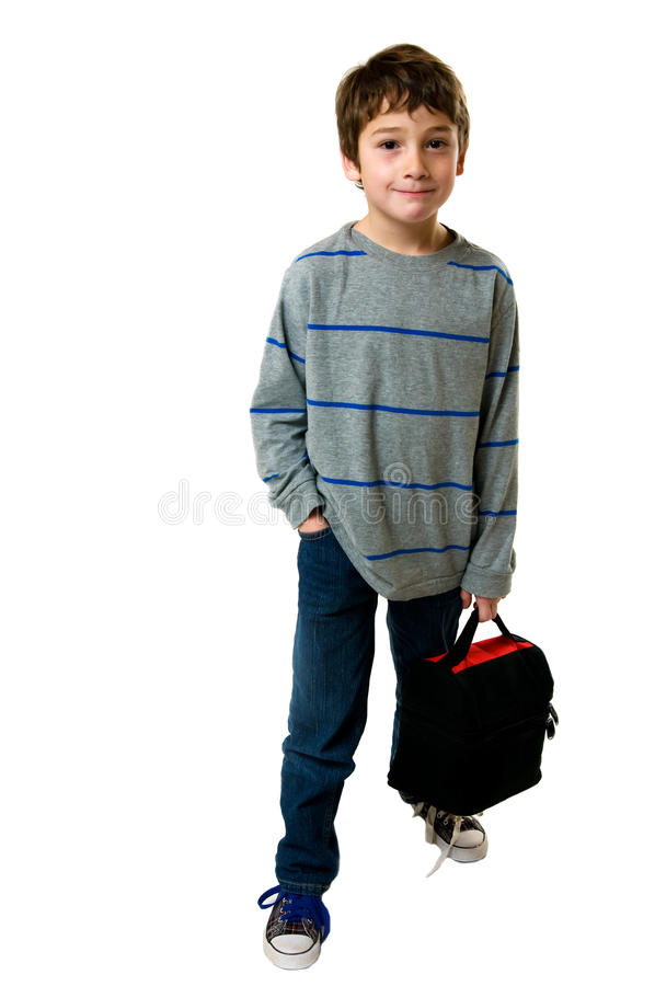 Download Little Boy With His Lunch Box Stock Photo - Image: 18239290