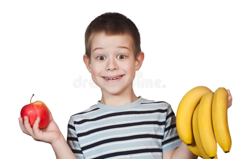 Download Little Boy holding fruit stock image. Image of healthy - 23875013