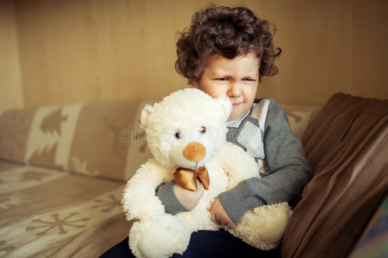Little boy at home royalty free stock photos