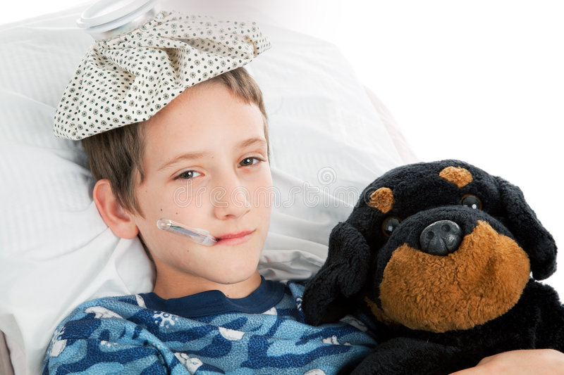 Little Boy Home Sick stock images