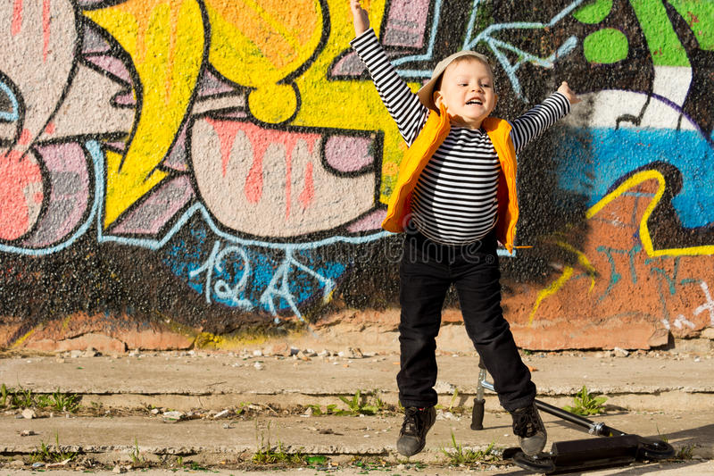 Download Little Boy Jumping For Joy Stock Photography - Image: 30585792