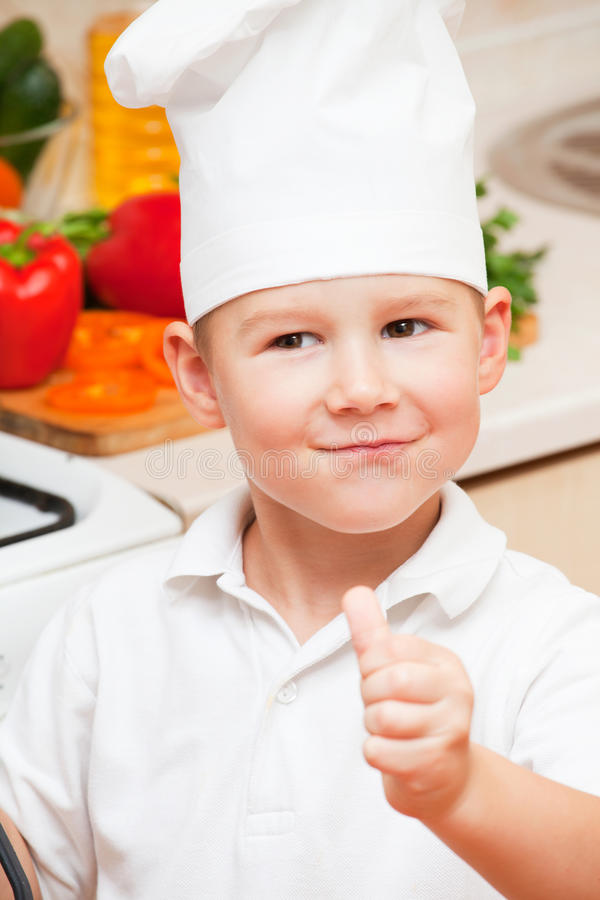 Download Little boy on kitchen stock image. Image of houses, cook - 22132787