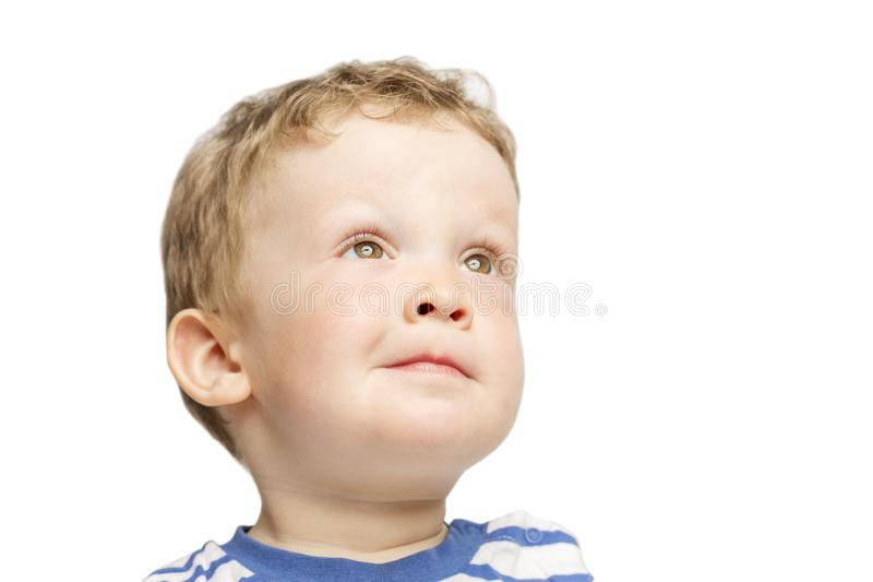 Little boy laughs close-up royalty free stock photos