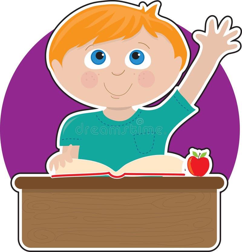Little Boy na escola ilustração do vetor