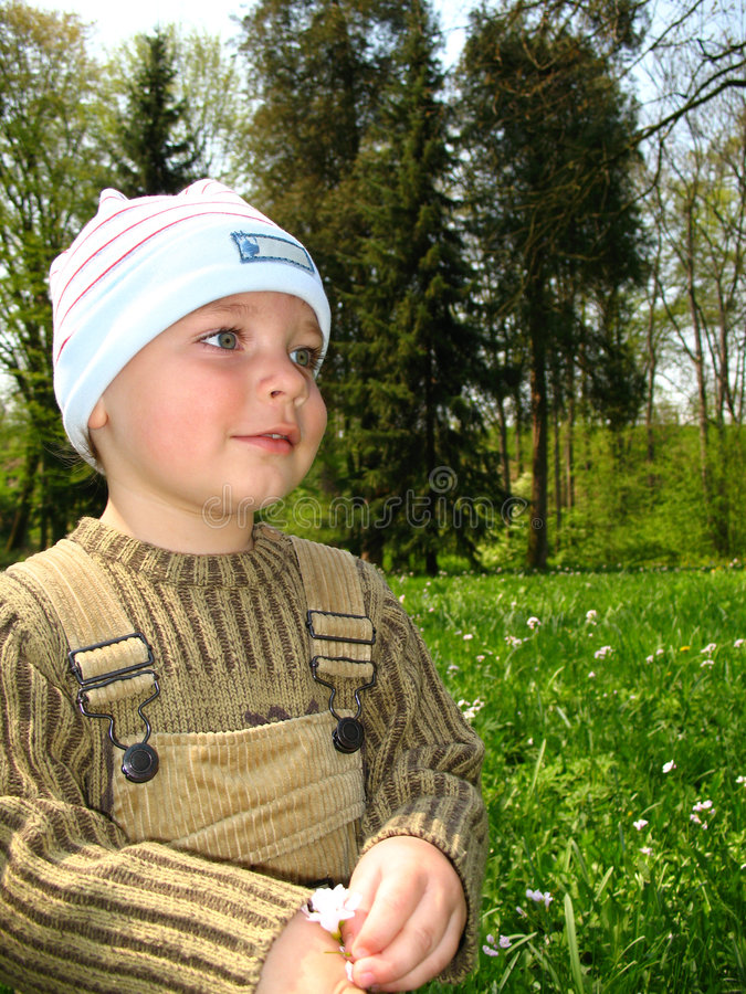 Download Little boy in park stock image. Image of toddler, scan - 7002335