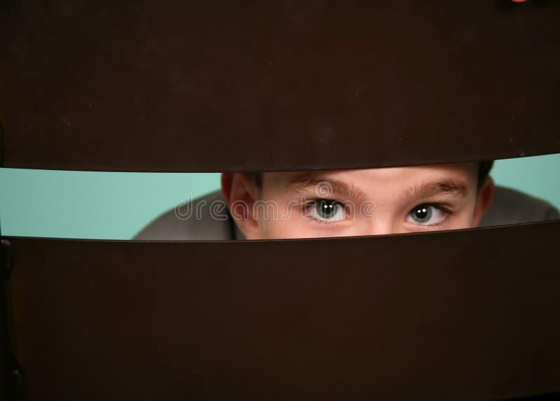 Download Little Boy Peeking Out Royalty Free Stock Photo - Image: 14547095