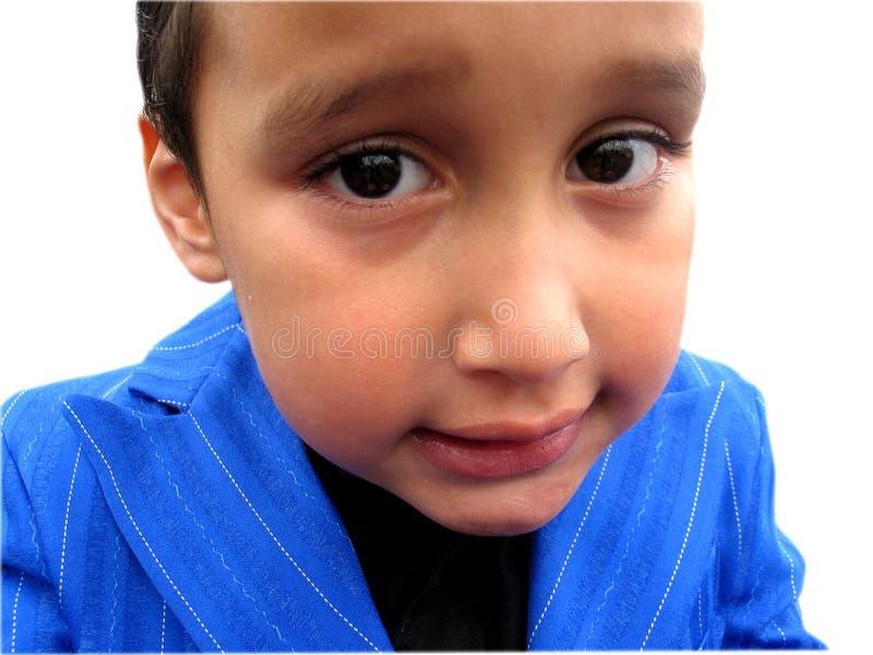 Little Boy in Pimp Reeks stock afbeelding