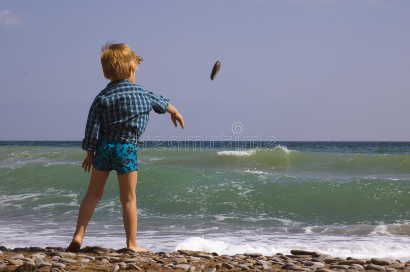 Download Little Boy Play On The Beach Stock Image - Image: 11202707