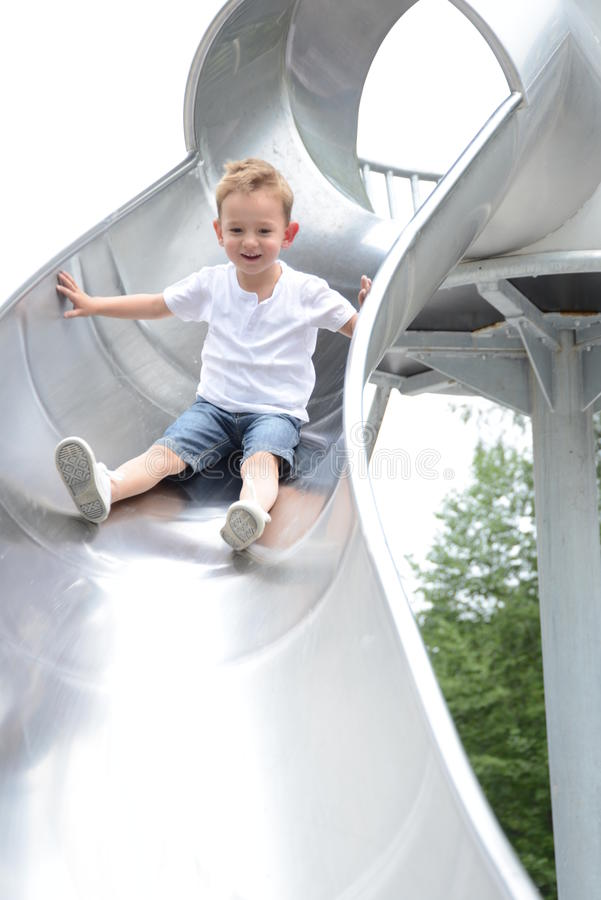 Little boy at the playground royalty free stock photo