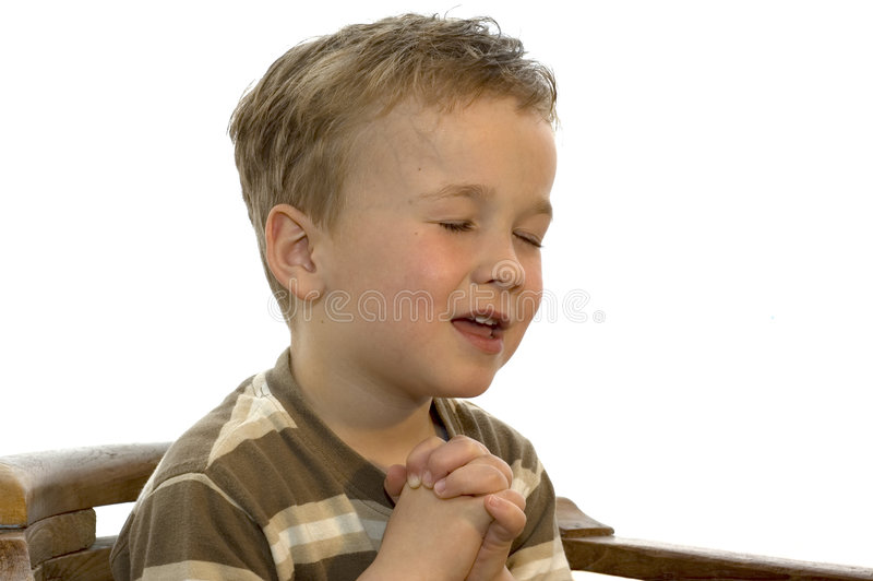 Download Little boy praying stock photo. Image of jesus, pure, closed - 738600
