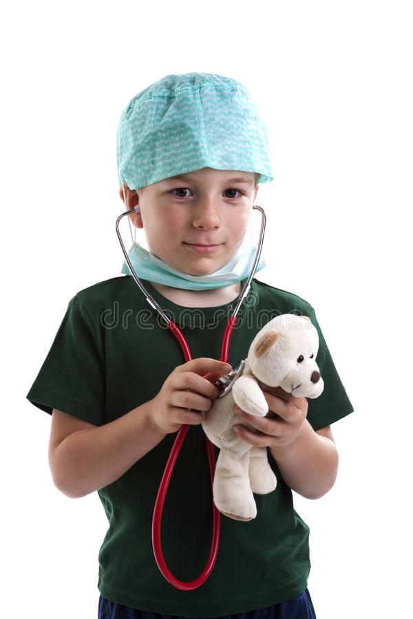 Little Boy que juega al doctor fotografía de archivo libre de regalías