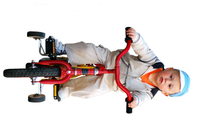 Download Little boy riding bicycle stock image. Image of race - 12546493