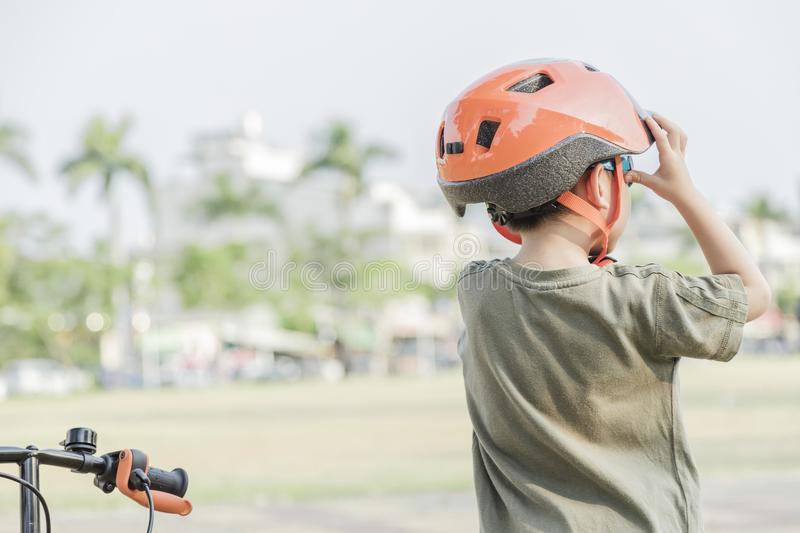 Little boy riding a bike. Child on bicycle. royalty free stock photos