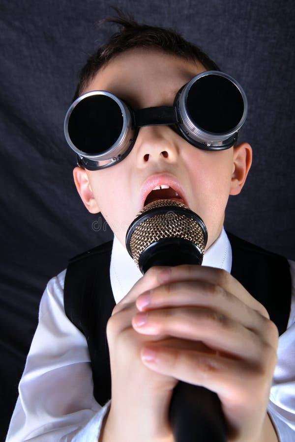 Little boy singig royalty free stock photo