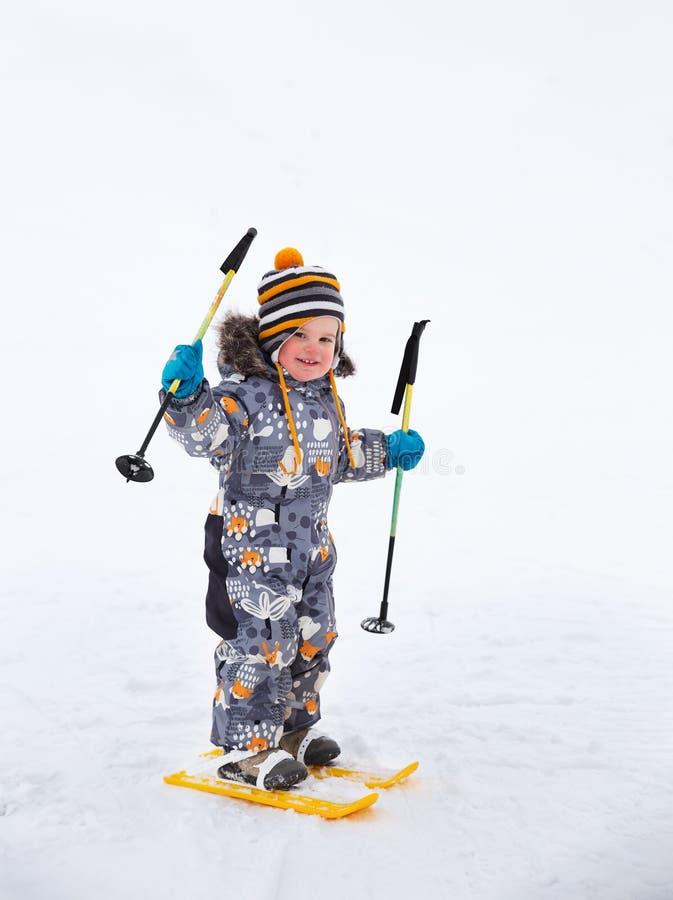 Free Little Boy Skiing Stock Photos - 78434783