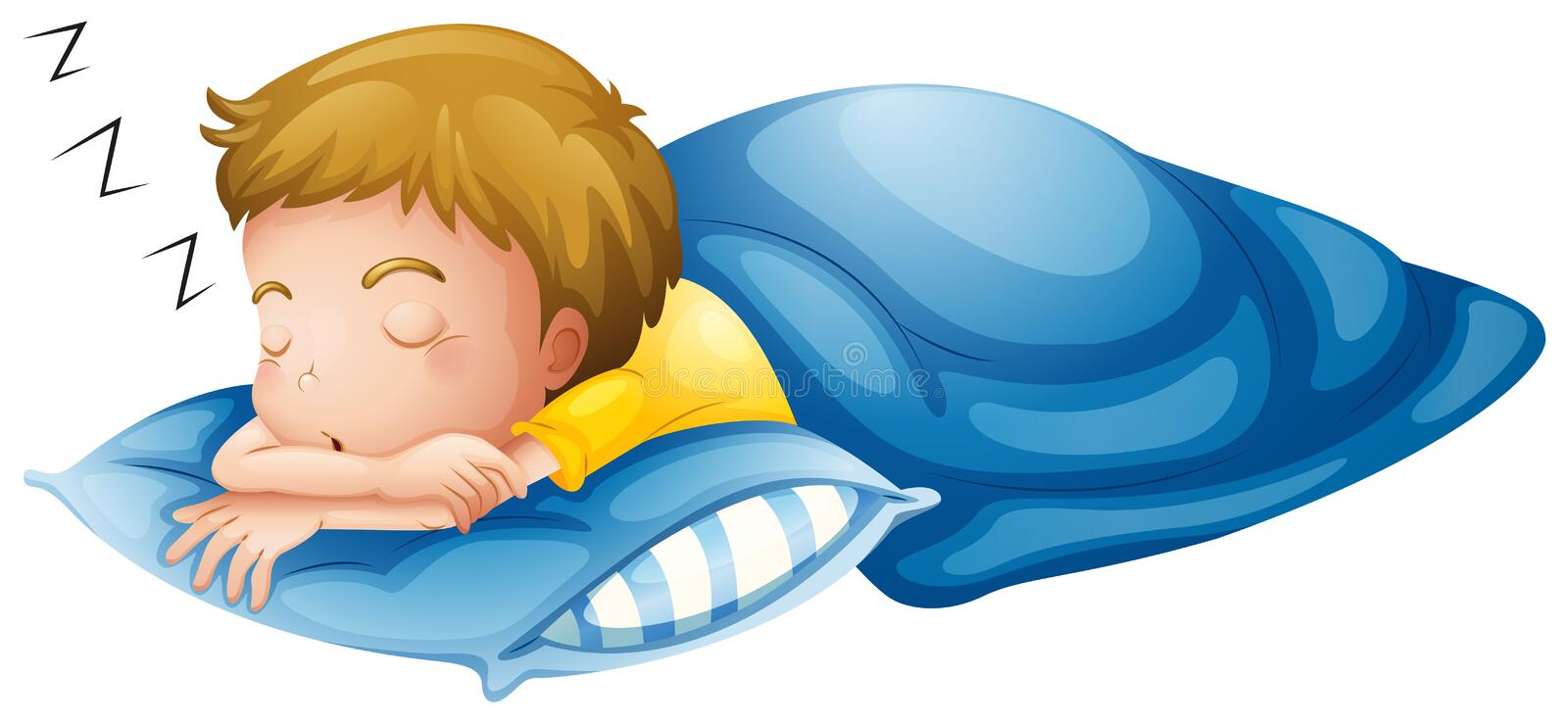 A little boy sleeping stock illustration