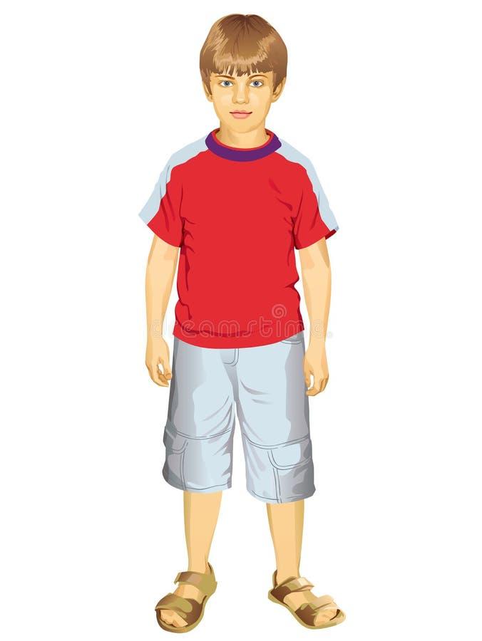 Little Boy Standing Vector Illustration Royalty Free Stock Image