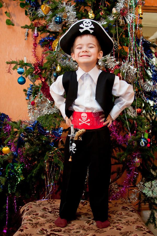 Download Little Boy In The Suit Of Pirate Stock Photo - Image: 18691010