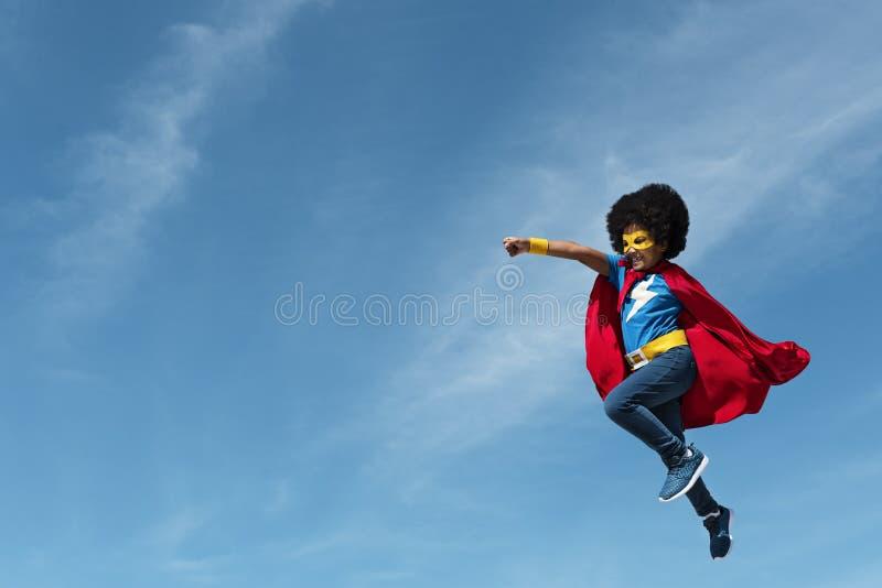 Little Boy Super Hero Concept. Little Boy Super Hero Costume royalty free stock photos
