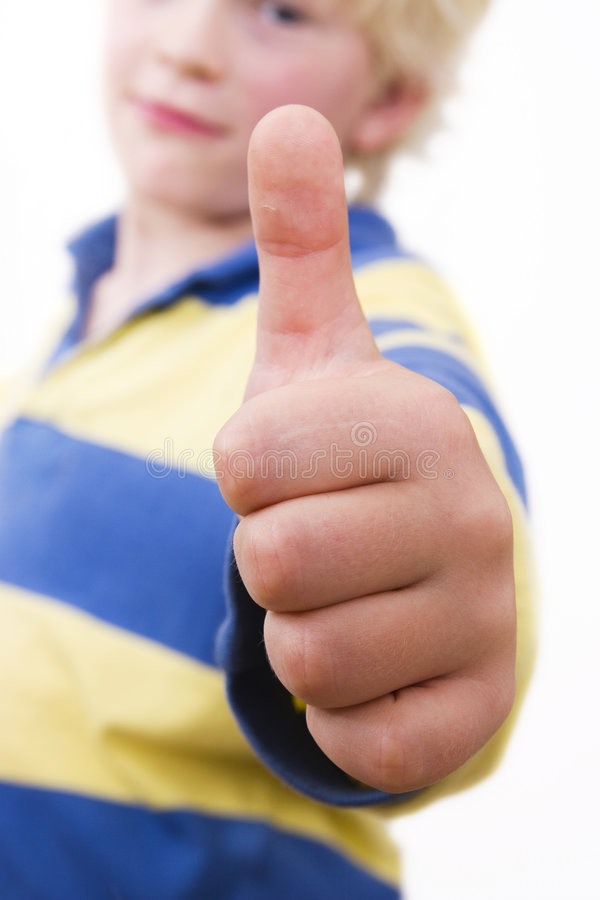 Download Little boy, thumbs upp stock image. Image of white, thumb - 2644399