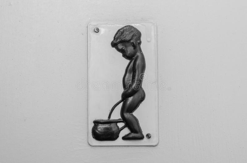 Little boy toilet sign stock image image 30357941 for Boy and girl bathroom door signs