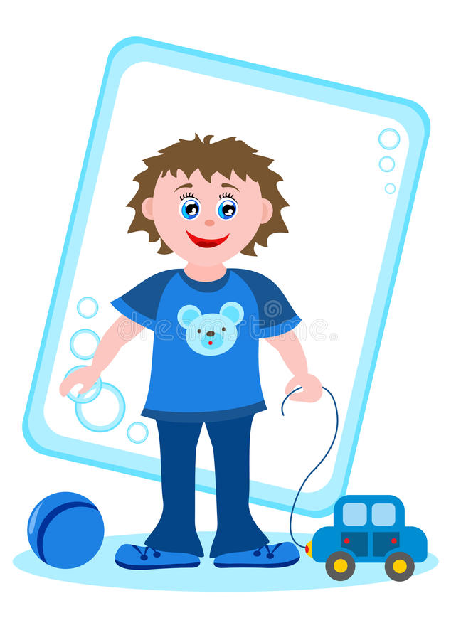 Download Little boy with toys stock illustration. Illustration of child - 33348402