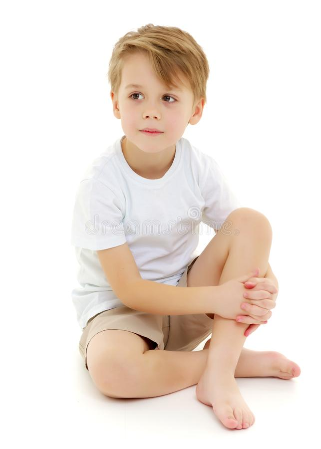 Little Boy triste foto de stock royalty free