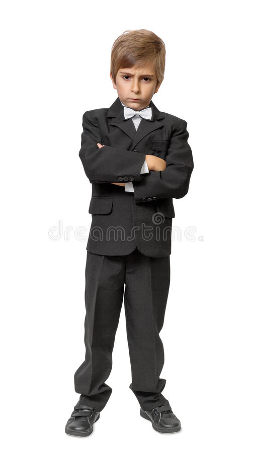Download Little boy in a tuxedo stock image. Image of adorable - 33952333