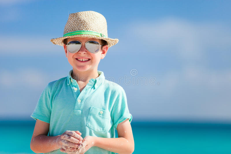 Little boy on vacation stock image