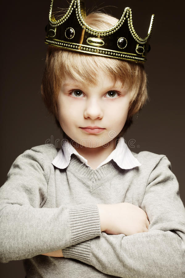 Free Little Boy With Crown Royalty Free Stock Image - 49927086