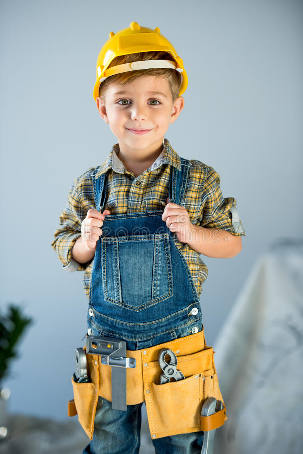 Free Little Boy With Tools Stock Photos - 90730993