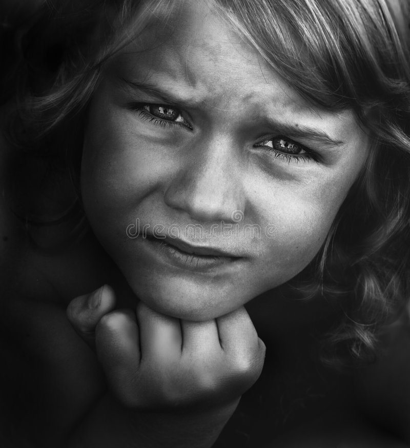 Download Little boy with worry stock image. Image of kids, concepts - 2952039