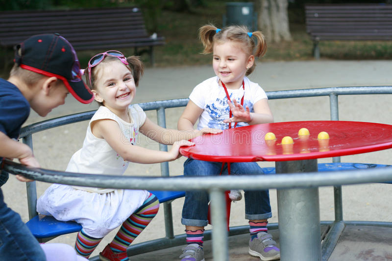 Download Little Boys And Girls Playing In The Park Stock Image - Image: 21871487