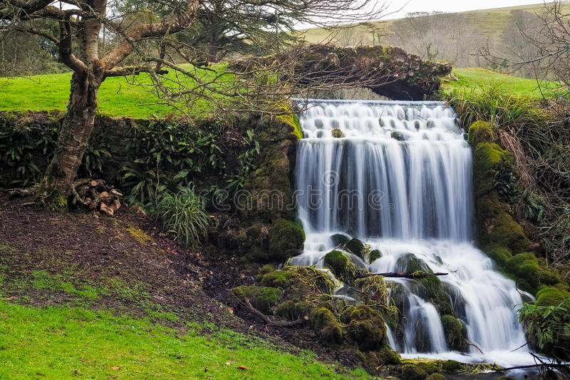 Little Bredy Waterfall royalty free stock photos