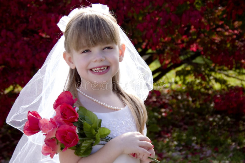 Little Bride 1 royalty free stock images