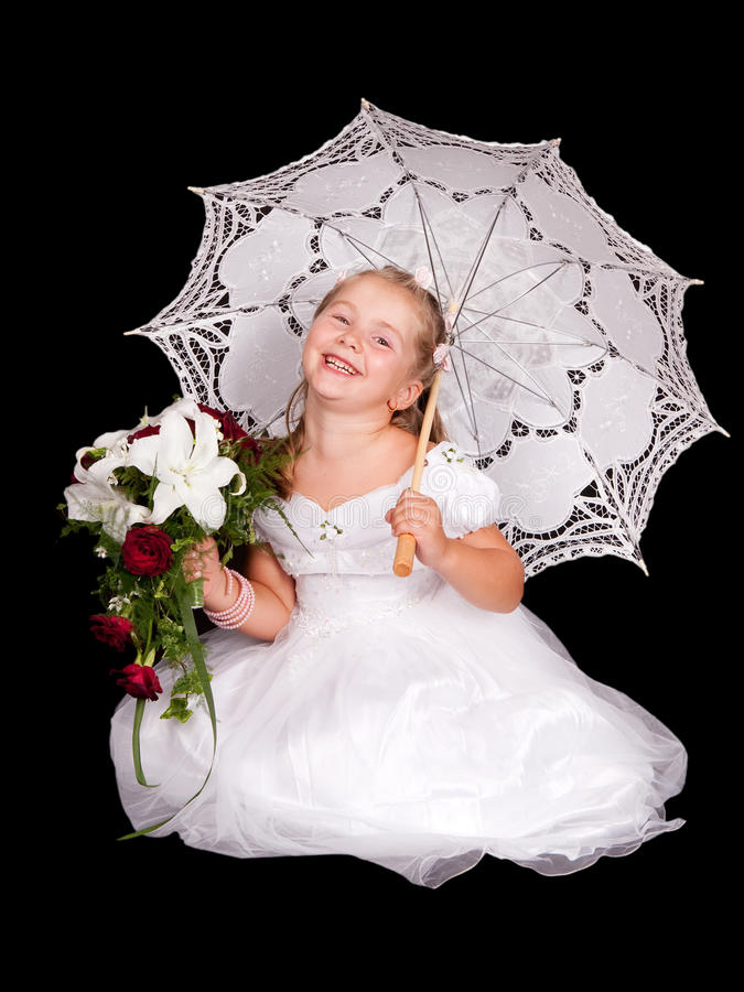 Little bride royalty free stock image