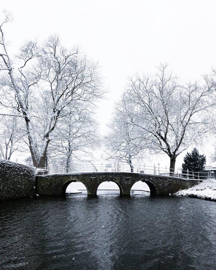 A little bridge in Bemmel stock images