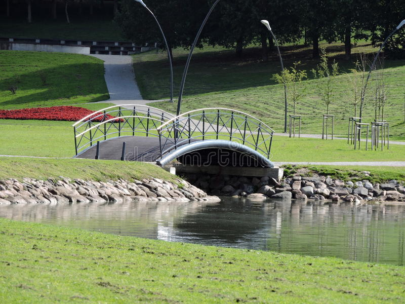 Little bridge royalty free stock images