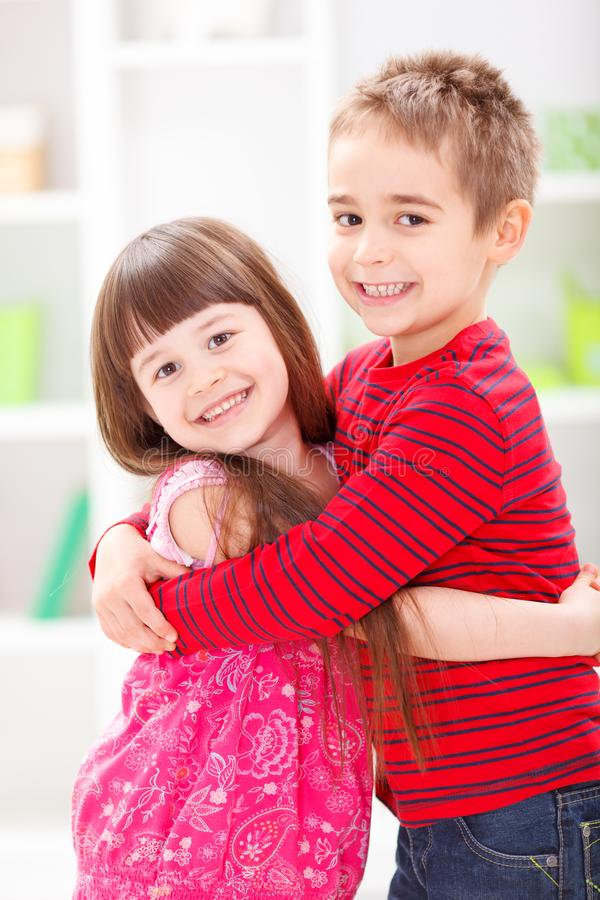 Little brother and sister royalty free stock photography