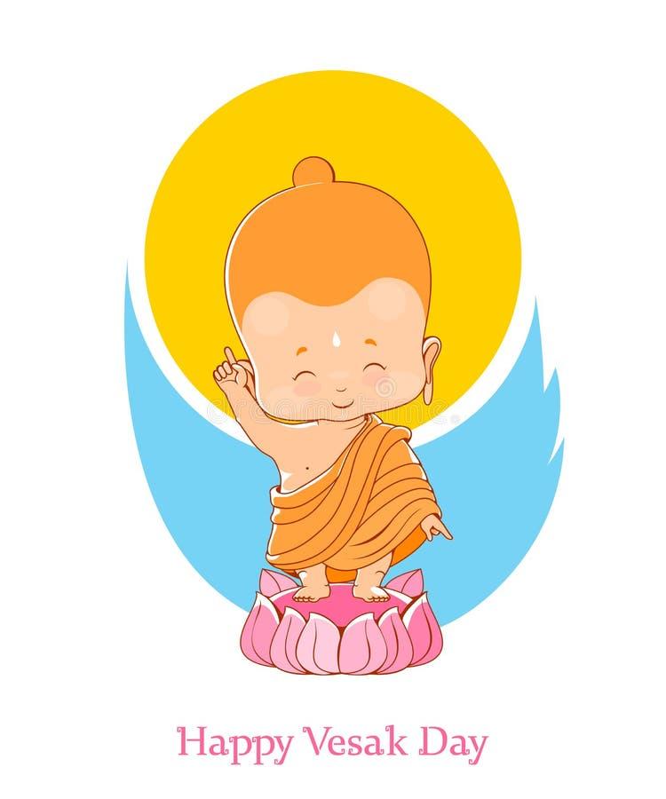 Little Buddha Birthday Vesak Day stock image