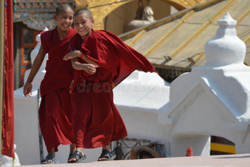 Download Little buddhist monks editorial stock image. Image of boudha - 79323354